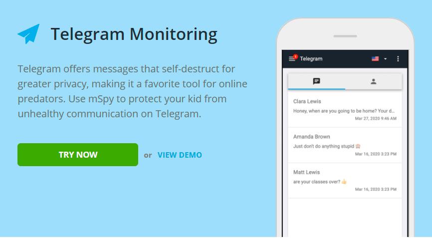 Spy phone app telegram